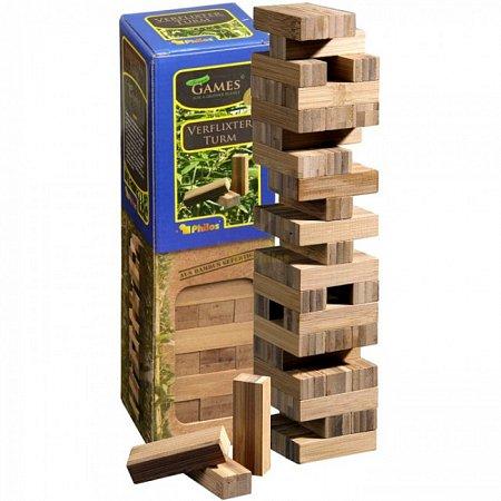 "Игра ""Башня"" (Jenga), бамбук. Philos 3260"