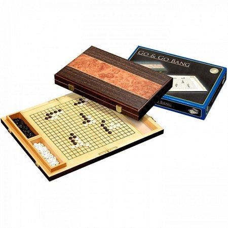 Игра Го, кейс, корневая древесина. Philos 3214