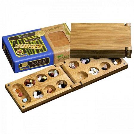 Игра Калах, дорожная, бамбук. Philos 3258
