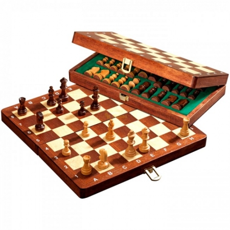 Шахматы дорожные De Luxe, 26,5х13,5х4 см. Philos 2711