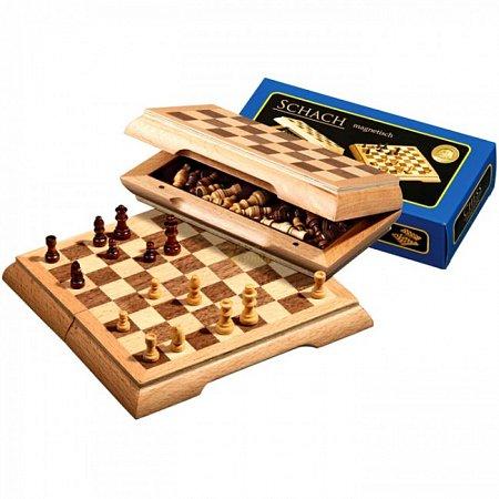 Шахматы дорожные, магнитные, 17х8,5х3,5 см. Philos 2716
