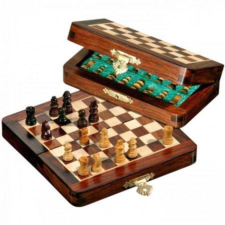 Шахматы дорожные мини, магнитные, 13х6,5х3,5 см. Philos 2719