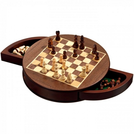 Шахматы круглые, магнитные, клетка 25 мм. Philos 2727