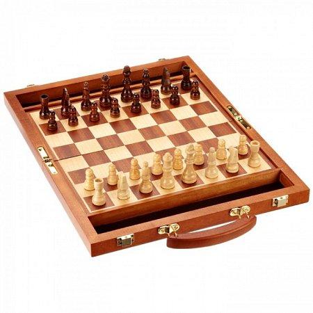 Шахматы в кейсе, поле 30х30 см. Philos 2730