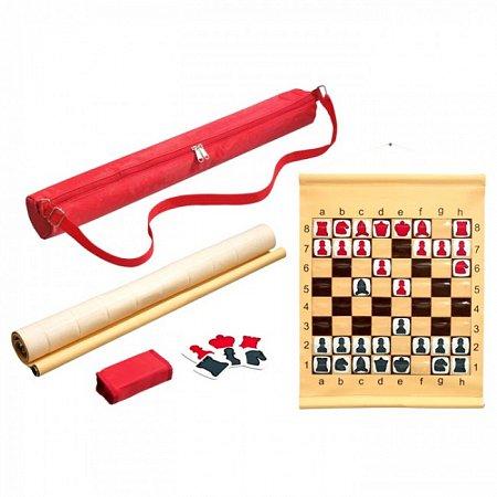 Шахматная демо доска с футляром. Philos 2752