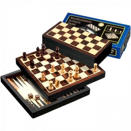 Набор Шахматы-Нарды-Шашки, дорожные, магнитные, 20х10х4,1 см. Philos 2507