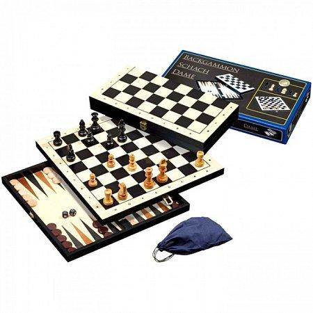 Набор Шахматы-Нарды-Шашки, 41х20,4х5 см. Philos 2514