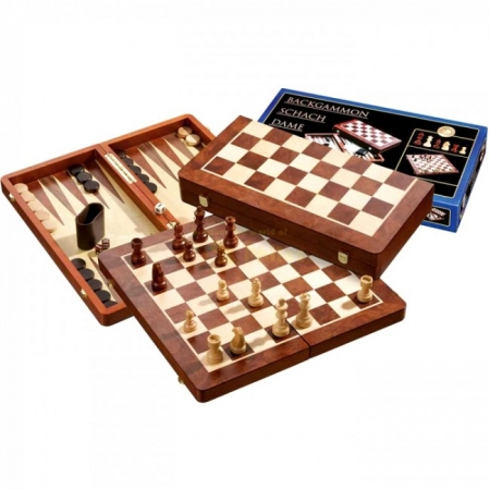 Набор Шахматы-Нарды-Шашки, 48,5х25х6 см. Philos 2520
