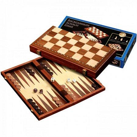 Набор Шахматы-Нарды-Шашки, магнитные, 40х20х5 см. Philos 2524