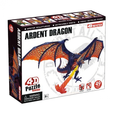 4D Master - Объемный пазл Дракон Огнедышащий (26844)