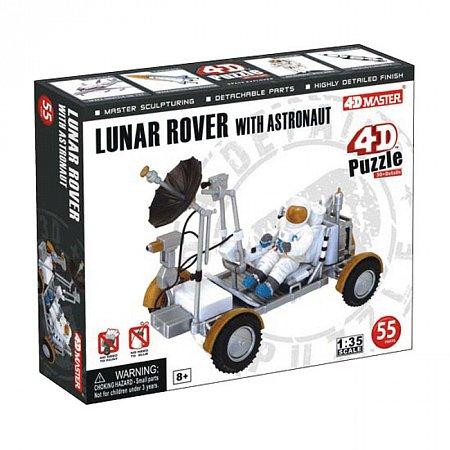 4D Master - Объемный пазл Лунный вездеход с астронавтом (26374)
