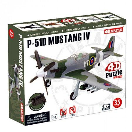 4D Master - Объемный пазл Самолет F-51D Mustang 4 (26908)
