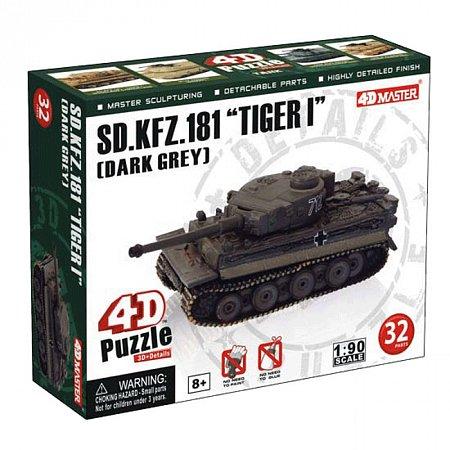 4D Master - Объемный пазл Танк SD.KFZ.181TIGER I (DARK GREY), 26321