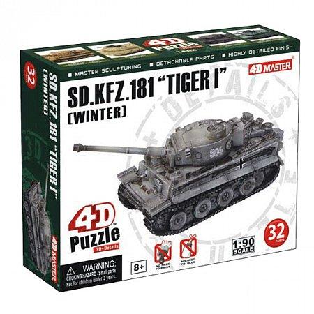 4D Master - Объемный пазл Танк SD.KFZ.181TIGER I (WINTER), 26323