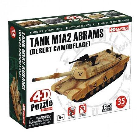 4D Master - Объемный пазл Танк TANK M1A2 ABRAMS (DESERT CAMOUFLAGE), 26326