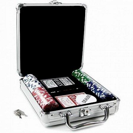 Покерный набор на 100 фишек без номинала в кейсе. 11,5g-chips