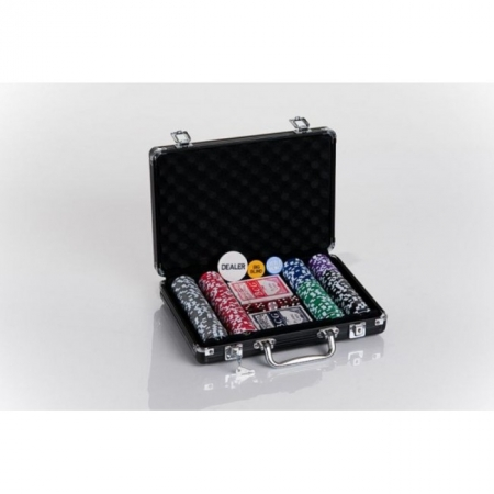 Набор для покера на 200 фишек C-2 (мелкий шрифт, номинал 1-500). 11,5g-chips