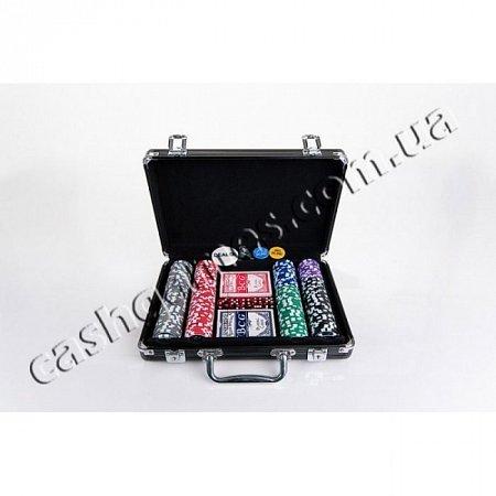 Набор для покера на 200 фишек Т-2 (турнирный, номинал 1-500, крупный шрифт). 11,5g-chips