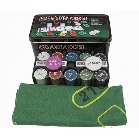 Покерный набор на 200 фишек Техасский холдем РАСПРОДАЖА