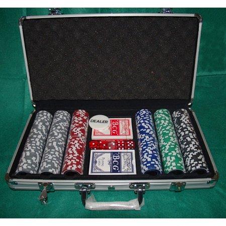 Набор для покера на 300 фишек Т-1 (турнирный, мелкий шрифт, номинал 1-100). 11,5g-chips