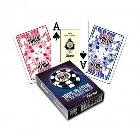 """Пластиковые карты Fournier """"World Series of Poker"""" (WSOP) (red), 40582red"""