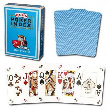 Изображение - Пластиковые карты Modiano Poker Index, light blue