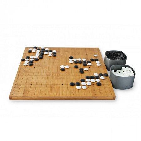 Игра Го. Доска бамбук 20 мм, камни фаянс 8 мм