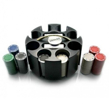 Покерный набор на 200 фишек без номинала в барабане. 4g-chips