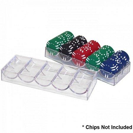 Акриловый чип-трей на 100 фишек без крышки