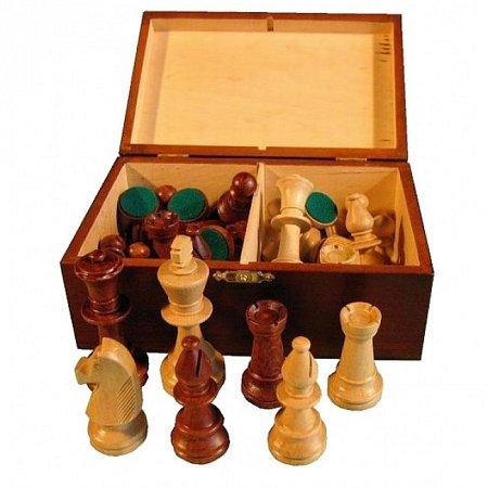 Шахматные фигуры Стаунтон №5 в коробке, король 90 мм (2044, 3167)