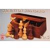 Шахматные фигуры Стаунтон №7 в коробке, король 100 мм (2046)