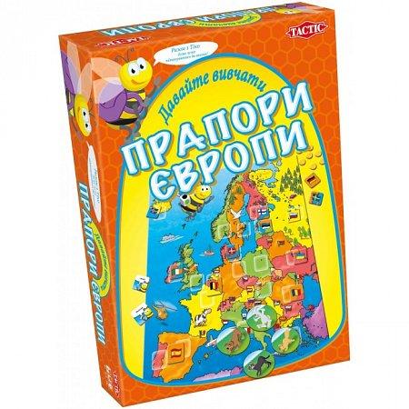 Настольная игра Давайте изучать флаги Европы Tactic 40306