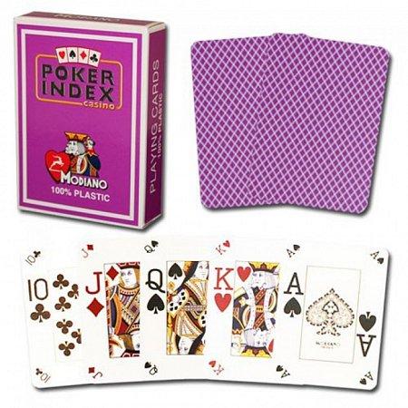 Игральные карты для покера Modiano Poker Index Purple