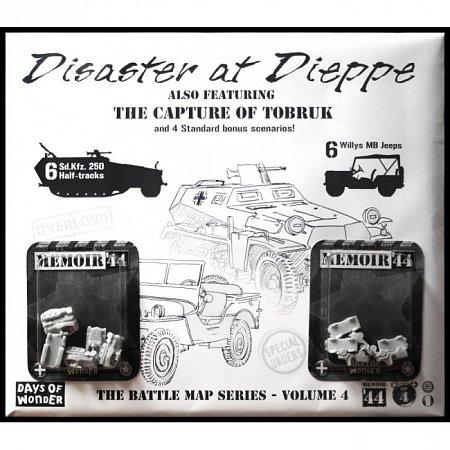 Настольная игра Memoir44: OP4 Battle Map - Disaster at Dieppe/The Capture of Tobruk