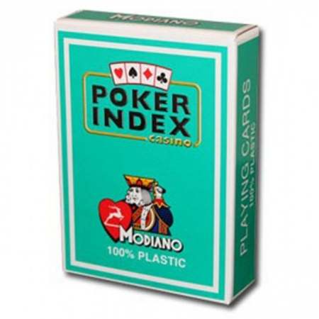Пластиковые карты для покера Modiano Poker Index Green Modiano