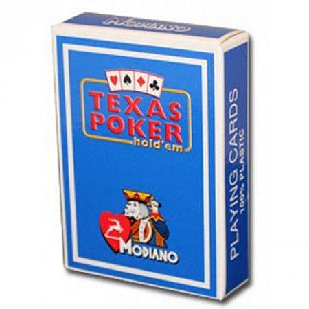 Изображение - Карты Modiano Texas Poker 2 PIP Jumbo Light Blue