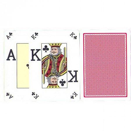 Карты пластиковые Fournier Poker Vision Poker Index Red, 36662red