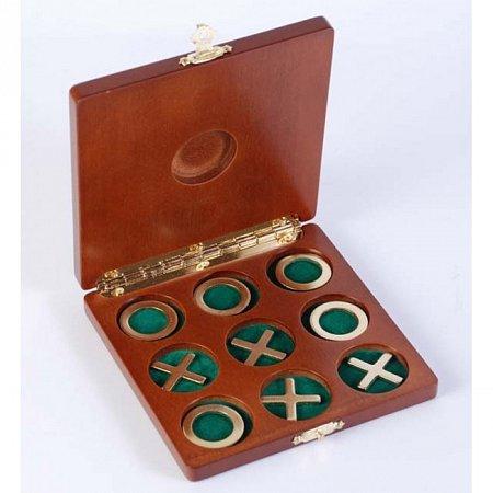 Игра Крестики-нолики в деревянной коробке. 2072
