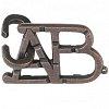 Изображение 1 - Металлическая головоломка ABC (Алфавит) 1 ур. сложности. Huzzle (515003)
