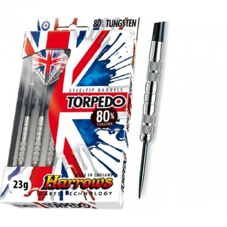 Дротики Harrows Torpedo 80% tungsten steeltip 23g K2