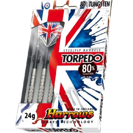 Дротики Harrows Torpedo 80% tungsten steeltip 24g K1