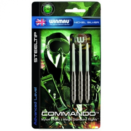 Дротики Winmau Commando Nickel-Silver Steeltip 24g