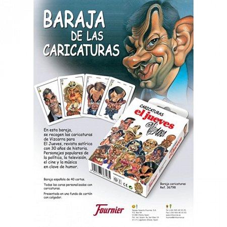 Карты Fournier Caricaturas (Карикатуры). Испанская колода, 40 карт, 36798
