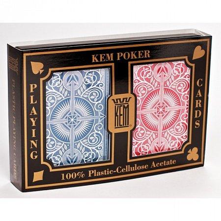 Карты KEM Poker 2 колоды (Red+Blue), 1007268