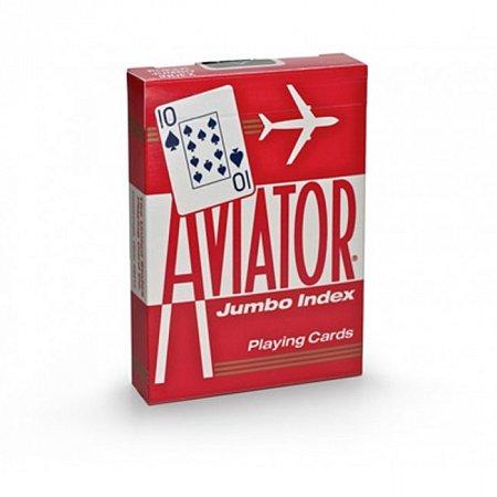 Изображение - Карты Aviator Jumbo Index Red, 1000876red