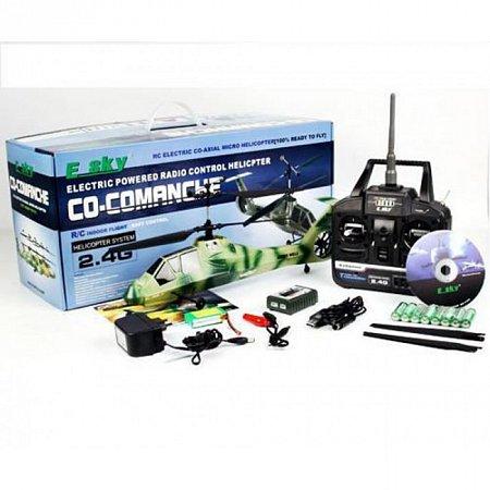 Радиоуправляемый вертолет Команч, 2.4Ghz (камуфляж)
