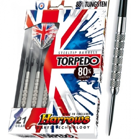 Дротики Harrows Torpedo 80% tungsten steeltip 21g K