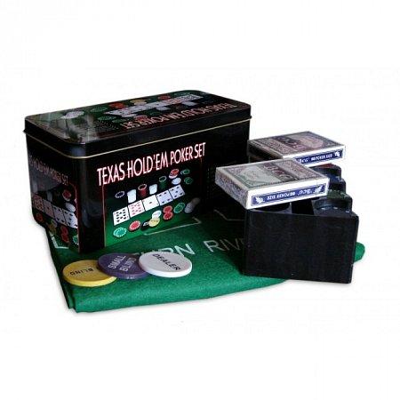 Набор для покера на 200 фишек без номинала Texas Holdem. 4g-chips