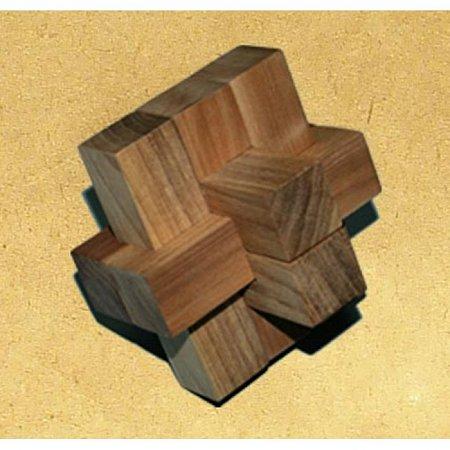 Деревянная головоломка Крест 2+2+3. Круть Верть