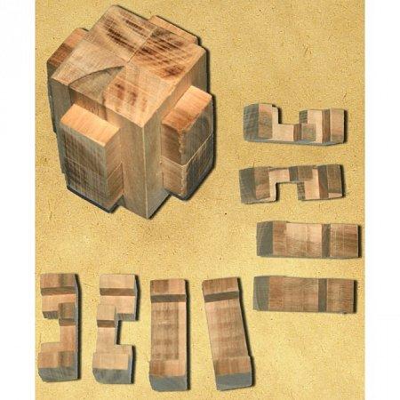 Деревянная головоломка Крест 2+2+4. Круть Верть